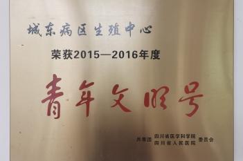 2015-2016年度青年文明号